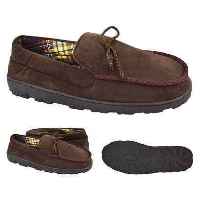 Muk Luks Moccasin Men's Flannel Lined Slippers House Shoes