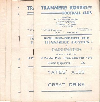 TRANMERE ROVERS RESERVES v Witton Albion 1949/50