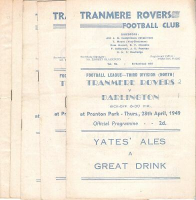 TRANMERE ROVERS v  Oldham Athletic  1948/9