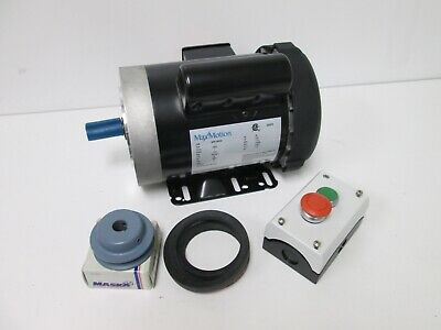 New Max Motion MTR-134FDC AC Motor, Voltage: 115/230VAC 60Hz, Speed: 1725RPM