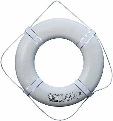 """Cal June USCG Approved Jim Buoy Marine Boat Life Ring Buoy White 24"""""""