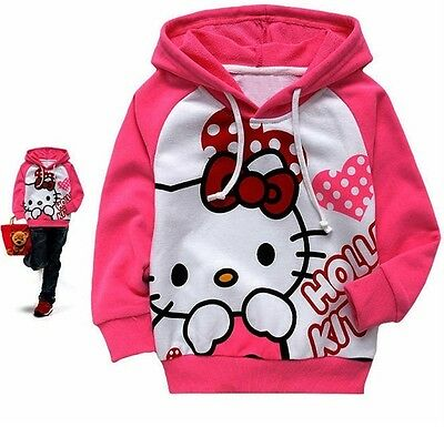 Sanrio Cotton HELLO KITTY HOODIE JACKET JUMPER Hoody Sweatshirt  95 & 100 CM