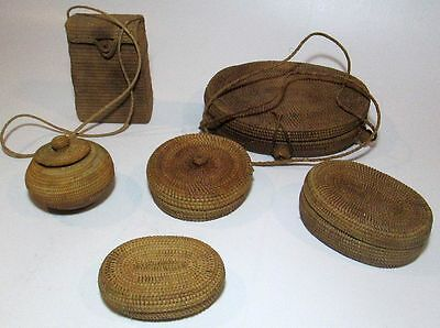 A collection of Woven baskets from the Island of Lombok / Collected mid 1980's