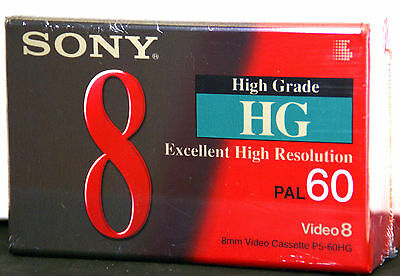 SONY P5-60HG1 8mm VIDEO 8 Tape High Grade 60 mins 120 mins (LP Mode) TWIN PACK