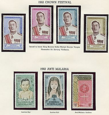 Laos Lot Ii  Mint Never Hinged Stamps Foreign Shipment Without Album Pages