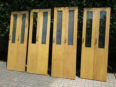 4 Pair Mid Century Double Folding Doors With Hardware Architectural Salvage Nice