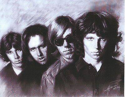 The Doors 8 X 10 Photo Art With Ultra Pro Toploader