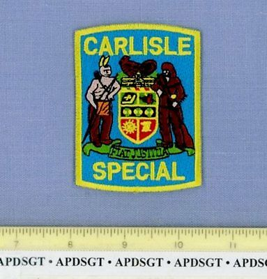 """CARLISLE SPECIAL POLICE PENNSYLVANIA Police Patch INDIAN RIFLE RESERVE 3.25"""""""