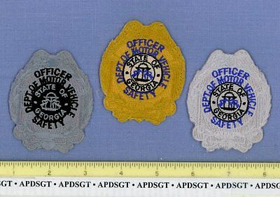 """GEORGIA DMV DOT SAFETY OFFICER (~3 Patches) Highway Patrol State Police Patch 3"""""""