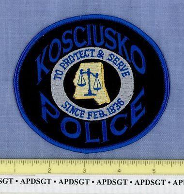 KOSCIUSKO MISSISSIPPI MS Sheriff Police Patch STATE SHAPE OUTLINE