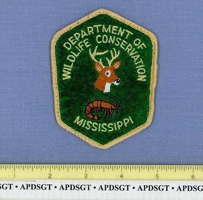 MISSISSIPPI DNR WILDLIFE CONSERVATION Police Patch DEER FISH NATURAL RESOURCES