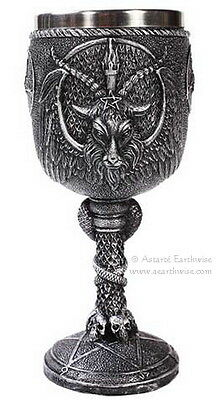 BAPHOMET PENTARAM  CHALICE Wicca Pagan Witch Goth Ritual Spell Altar