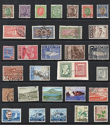 ICELAND Stamp Collection USED MINT REF:QD531