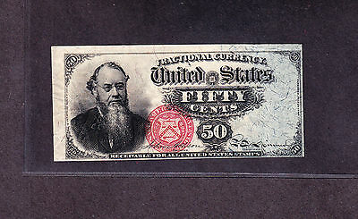 US 50c Stanton Fractional Currency 4th Issue FR 1376 VF -004