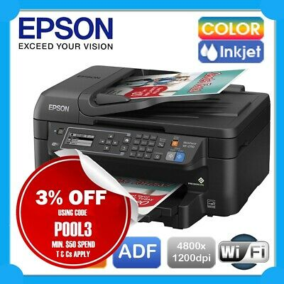 Epson WorkForce WF-2750 4-in-1 Wireless Inkjet MFP Printer+FAX+ADF+Mobile Print