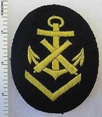 ORIGINAL WW2 Vintage GERMAN NAVY ORDNANCE GUNNERY PETTY OFFICER PATCH on BLUE
