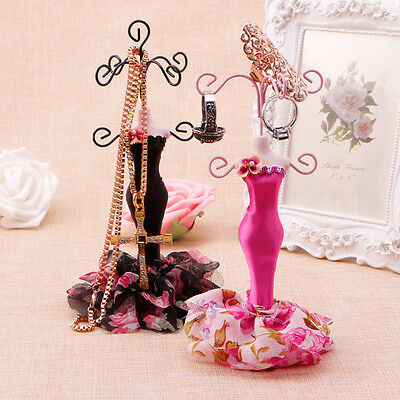 New Lady Mannequin Holder Earring Bracelet Necklace Jewelry Model Display Stand
