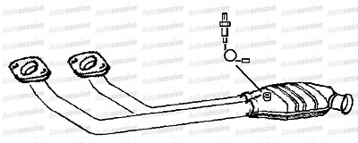 Volvo 960 2.9 Saloon 90-97 Exhaust Twin Front Pipe And Catalyst Spare Part