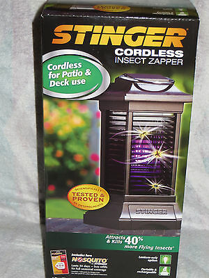 Stinger Cordless Insect/ Bug  Zapper & Lantern Rechargeable & Portable ***new***