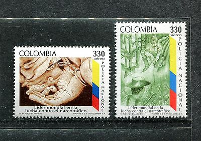 Colombia C880-81, MNH, Fight against illegal drug trafficking 1995. x23585