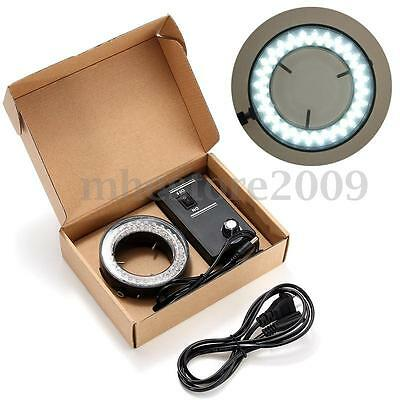 60 LED Adjustable Ring Light illuminator Lamp For Stereo Zoom Microscope Camera
