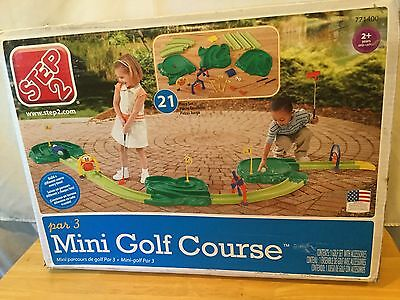 Step 2 Mini Golf Course Par 3 Putt Putt Indoor Outdoor 771400 21 Piece In Box