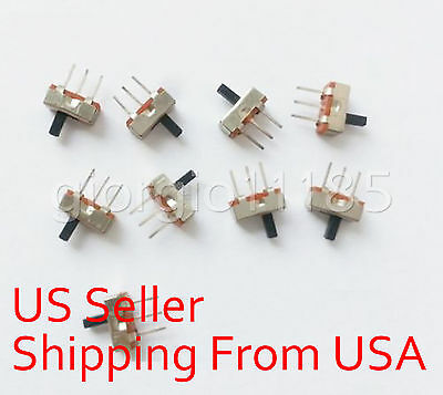 20 pcs SS12D00G4 SPDT 1P2T 2 Position 3 Pin PCB Panel Vertical Slide Switch