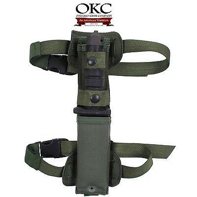 ONTARIO US ARMY ASEK AIRCREW SURVIVAL EGRESS PILOT OUTDOOR KNIFE oliv green