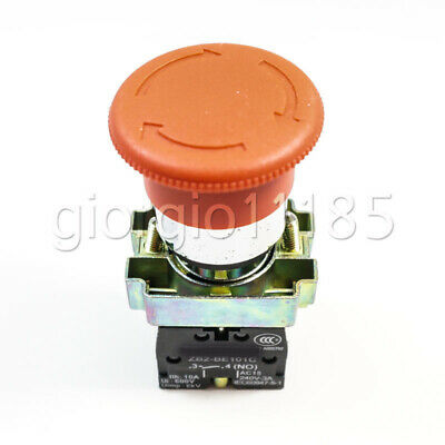 BS545 XB2-BS545 22mm 1 NC 1 NO Contact Twist Reset Emergency Stop Button Switch