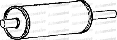 Ford Transit 2.5Td Minibus Swb 97-00 Exhaust Silencer Box Replacement Part