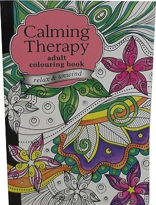 2 X Anti Stress Calming Therapy Adult A4 Colouring Book 60 Page Relax Unwind NEW