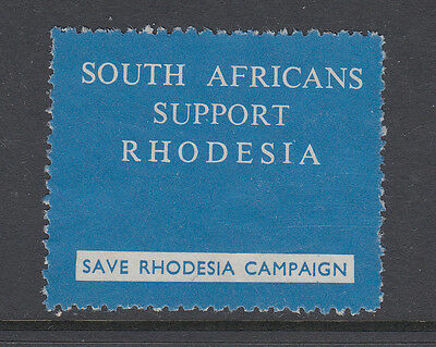 South Africans Support Rhodesia - Save Rhodesia Campaign - Cinderellas