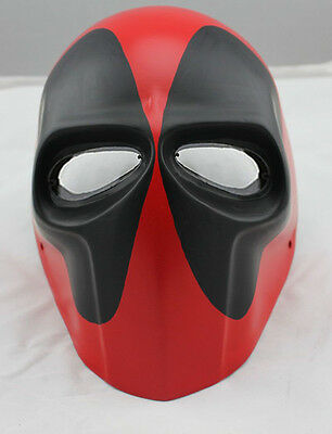 New Full Face PC Lens Eye Protection Red Black Mask For Paintball Airsoft Games