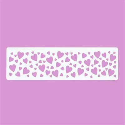 Cakecraft Hearts Border Stencil By Cassie Brown for Cake decorating