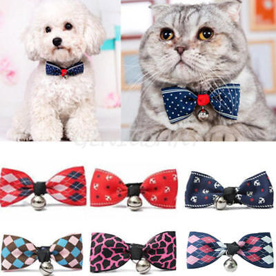 Fashion Adorable Dog Cat Pet Puppy Kitten Toy Bow Tie Necktie Collar With Bell