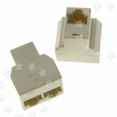 2 x 1 to 2 Port Cat 5e Network Patch Ethernet RJ45 Coupler Joiner