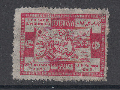 Red Cross - Our Day - For Sick & Wounded - 1917 - India - Wwi - Cinderella
