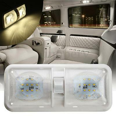 48SMD Car Interior Lamp Double Dome Ceiling LED Light For RV Boat Camper Trailer