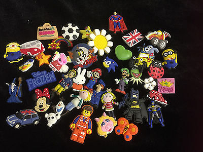 100 Assorted Shoe Charms For Crocs Boot Sales, School Fayre, Stocking Filler