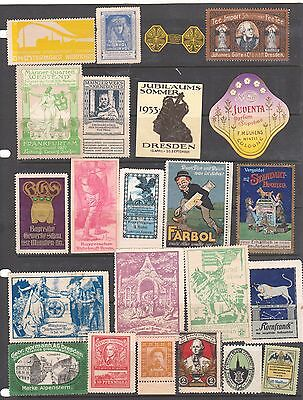 Poster Stamps, A Collection Of 23 German Labels