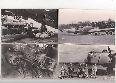 Aviation, Postcard Size Photos, A Collection Of Four Aircraft, Lot A