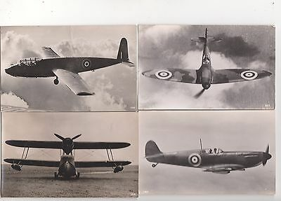 Aviation, Postcard Size Photos, A Collection Of Four Aircraft, Lot B