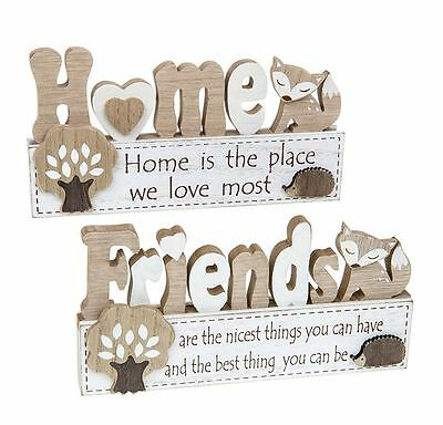 Woodland Fox Theme Friends or Home Table Top Signs Sold Individually