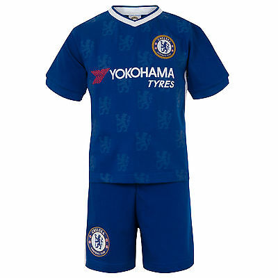 Chelsea FC Official Football Gift Boys Kids Kit Pyjamas Blue