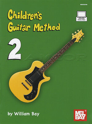 Children's Guitar Method 2 Music Book with Online Video Learn How To Play