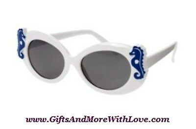Gymboree NWT White SEAHORSE GREEK ISLE STYLE UVA UVB SUNGLASSES 0 1 2 Years