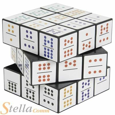 Domino 3D Puzzle Cube Double Nines Brain Teaser