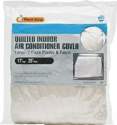 """New Frost King Ac9H 17"""" X 25"""" Quilted Indoor Air Conditioner Cover Sale 4204152"""