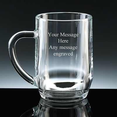 PERSONALISED 1 Pint Glass Tankard FREE ENGRAVING Any Message Engraved Gift NEW