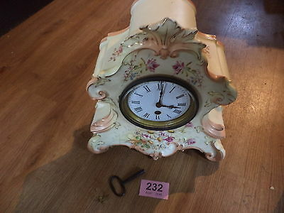 Victorian antique china mantle clock